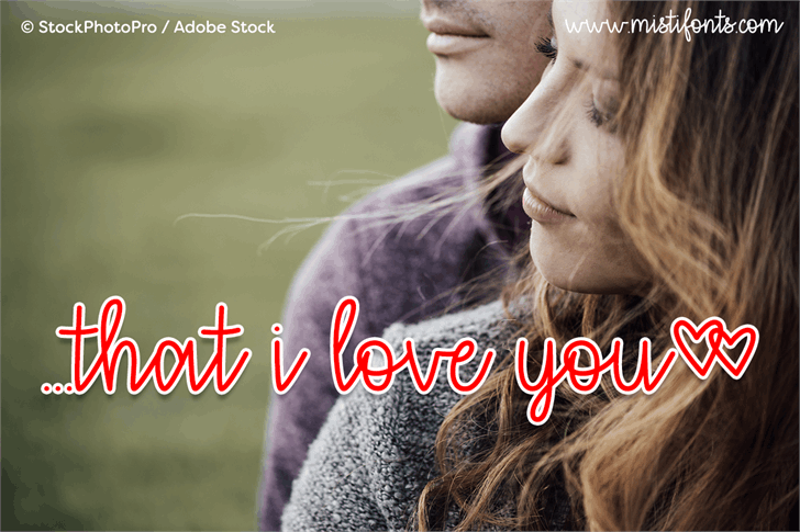that i love you font by Misti's Fonts
