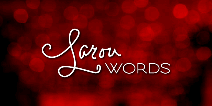 Larou Words font by Emily Lime Design