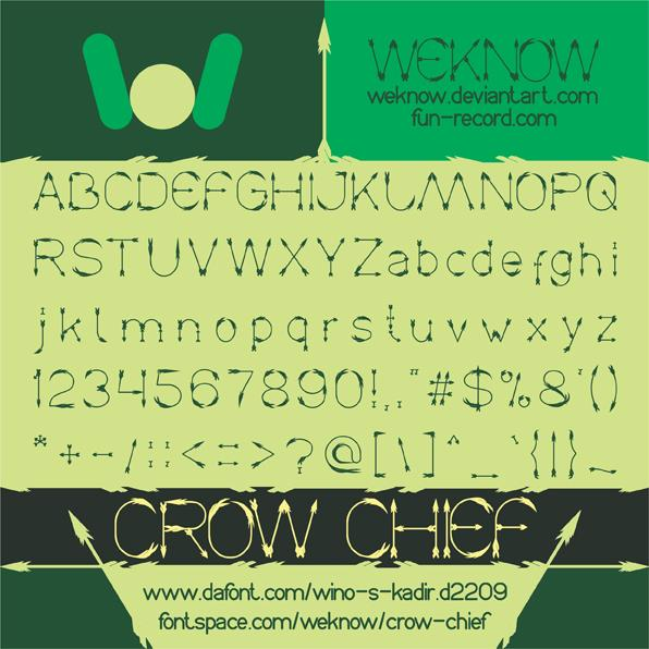 Crow Chief font by weknow