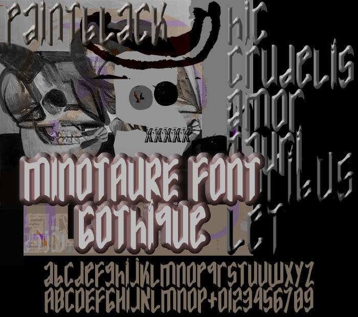 MINOTAURE Gothique font by paintblack éditions
