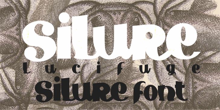 Silure font by paintblack éditions