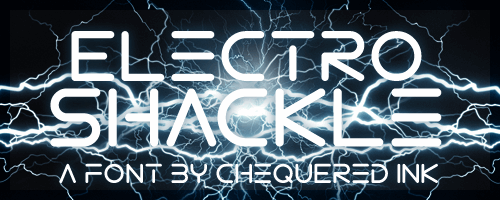 Electro Shackle font by Chequered Ink