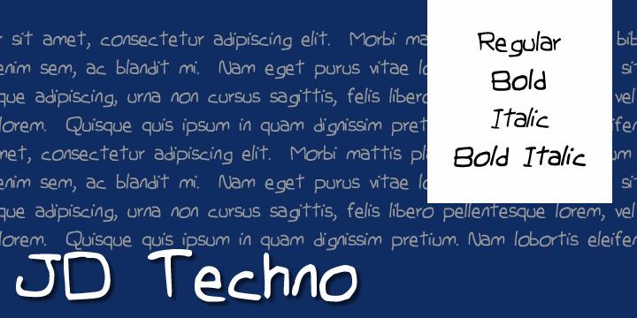 JDTechno font by Jecko Development