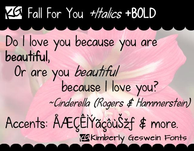 KG Fall For You font by Kimberly Geswein