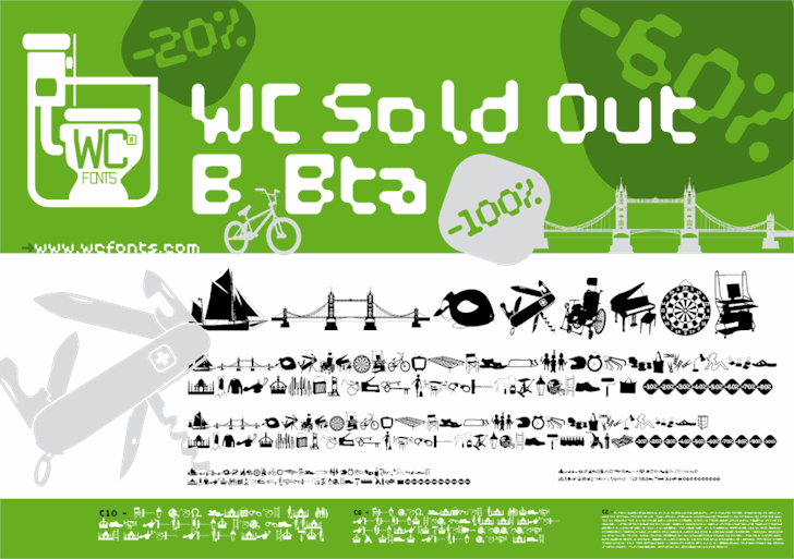 WC Sold Out B Bta  font by WC Fonts