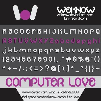 COMPUTER LOVE font by weknow