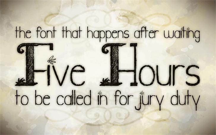 Jury Duty font by Julia Holdnack