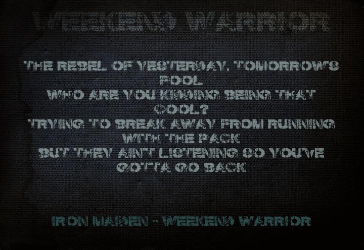 Weekend Warrior font by David Kerkhoff