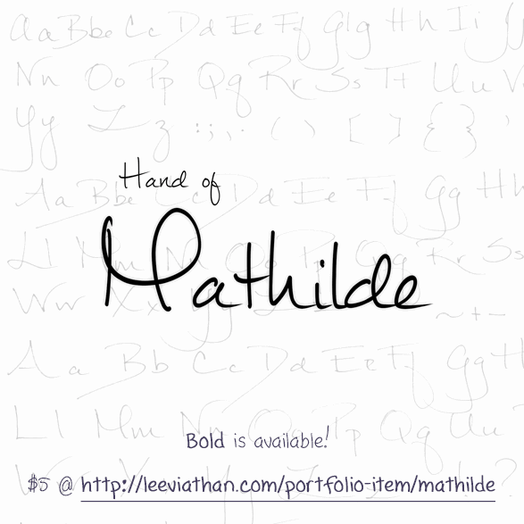 Mathilde font by Leeviathan