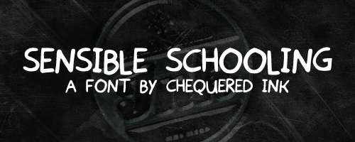 Sensible Schooling font by Chequered Ink