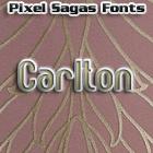 Carlton font by Pixel Sagas