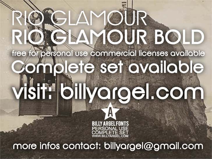 Rio Glamour personal use font by Billy Argel