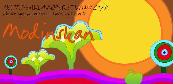 Modinskan font by Fontomen