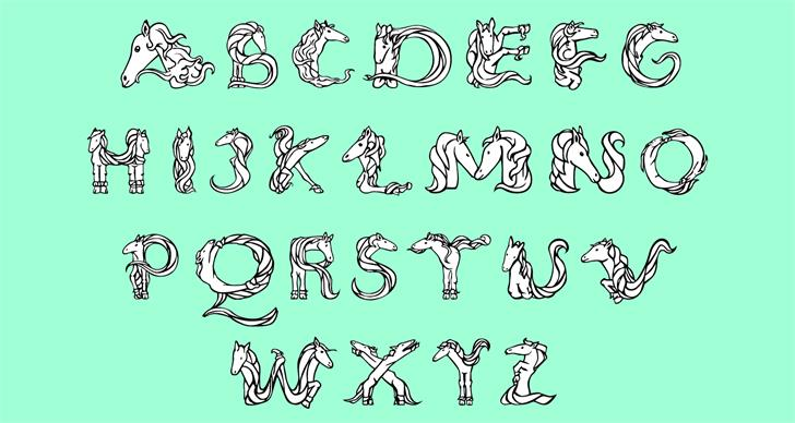 Magical Unicorn font by Arthus