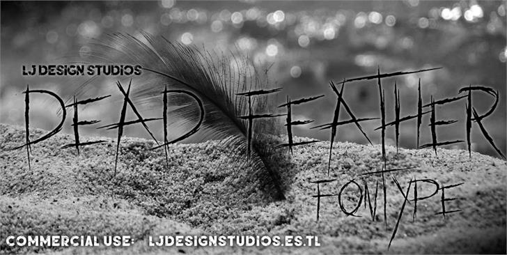 dead feather font by LJ Design Studios