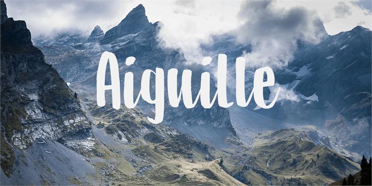 DK Aiguille font by David Kerkhoff