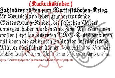 BrokenHand font by Manfred Klein