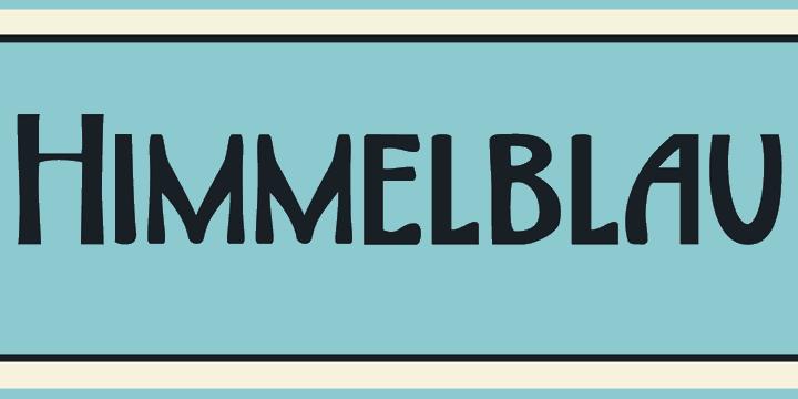 DK Himmelblau font by David Kerkhoff