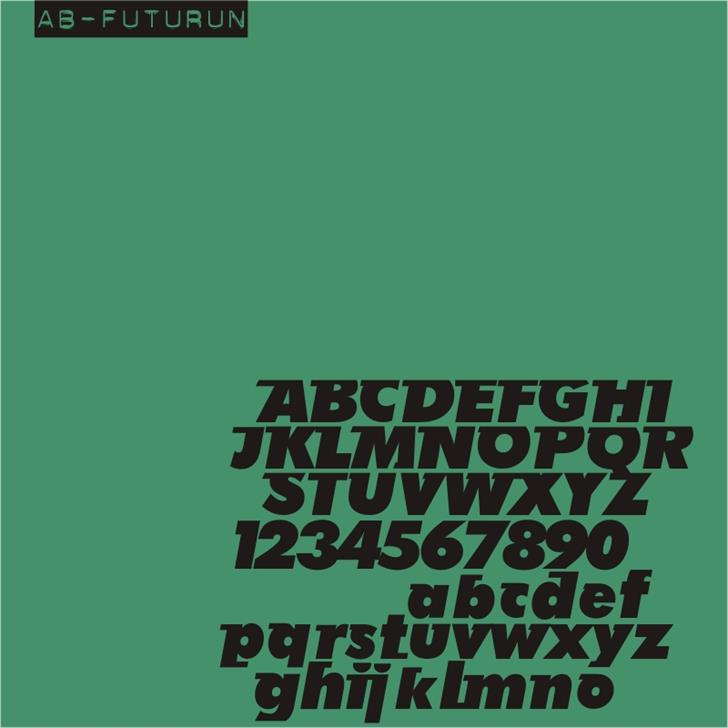AB Futurun font by redFONTS