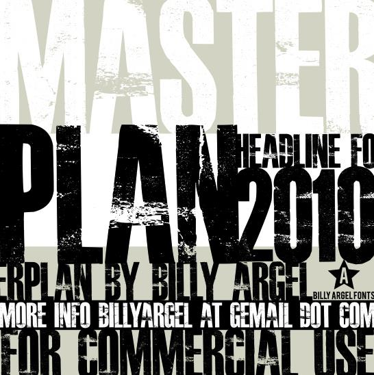 MASTERPLAN font by Billy Argel