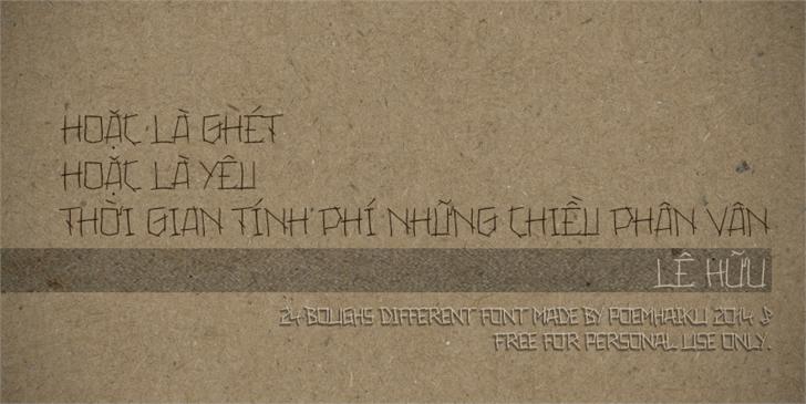24boughs Different Regular font by Poemhaiku