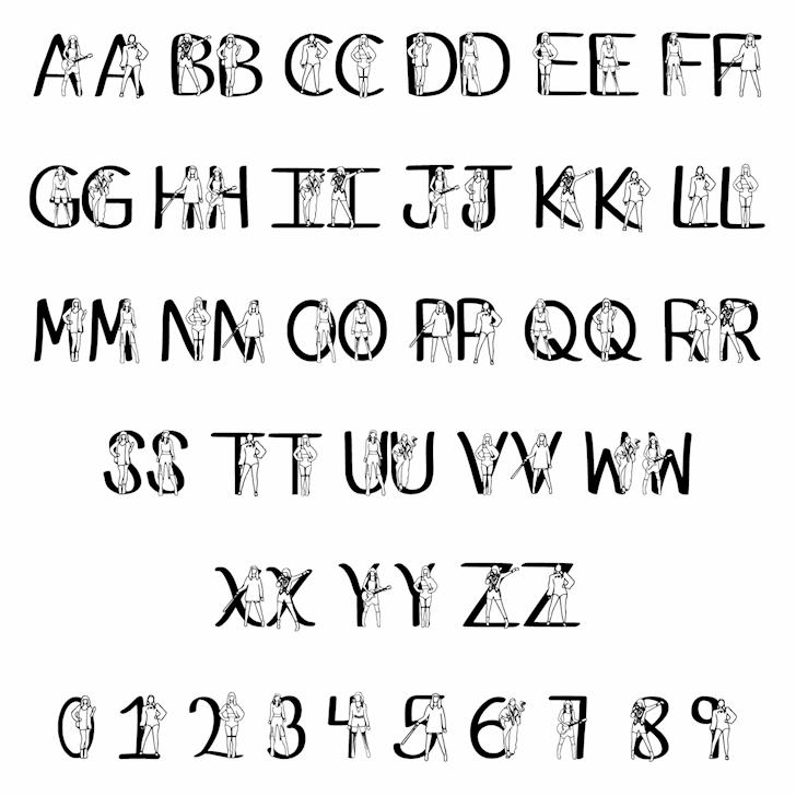 Ks Reputaytion font by Pretty Little Line Designs