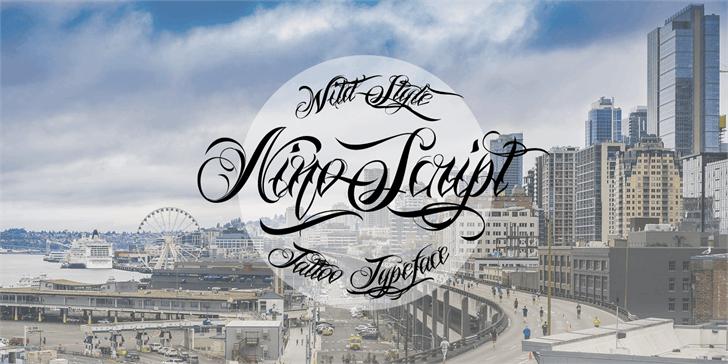Nino Script PERSONAL USE ONLY font by Måns Grebäck