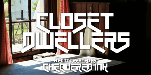 Closet Dwellers font by Chequered Ink