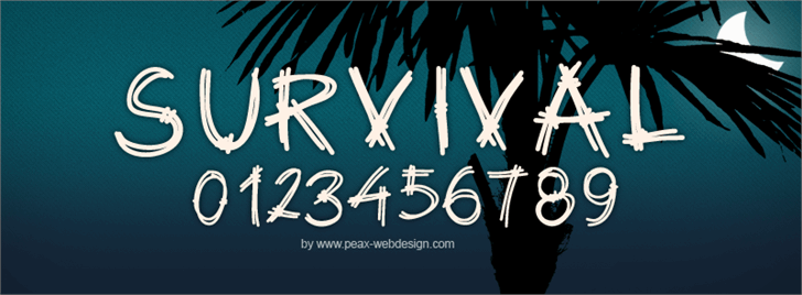 PWSurvival font by Peax Webdesign