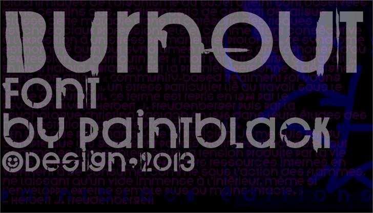 BurnOut font by paintblack éditions