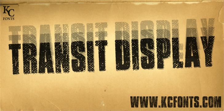 Transit Display font by KC Fonts