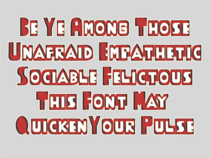 ThudThunk font by moonmoth design