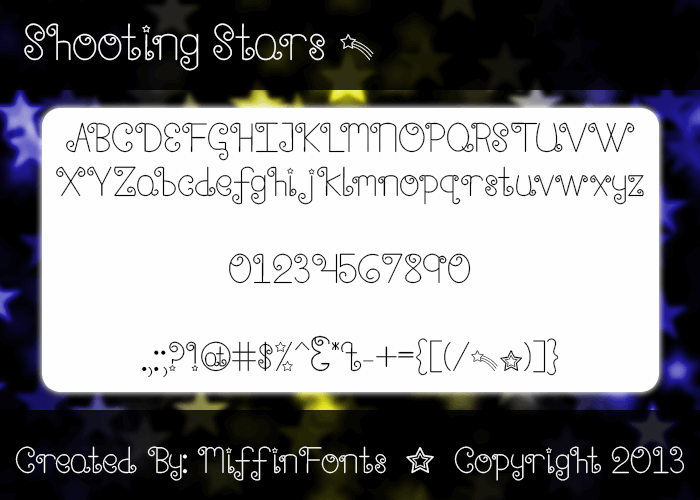 Shooting Stars font by Misti's Fonts
