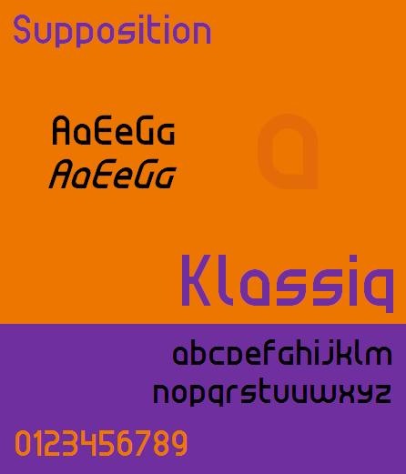 Klassiq NBP font by total FontGeek DTF, Ltd.