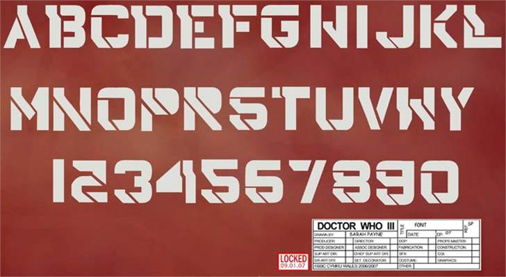 DrWho42 font by Character