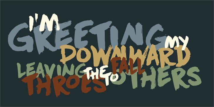 DK Downward Fall font by David Kerkhoff