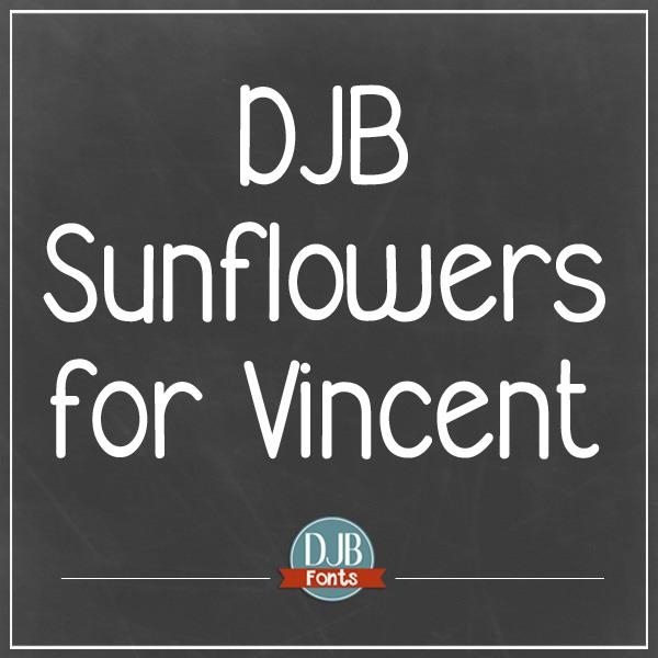 DJB Sunflowers for Vincent font by Darcy Baldwin Fonts