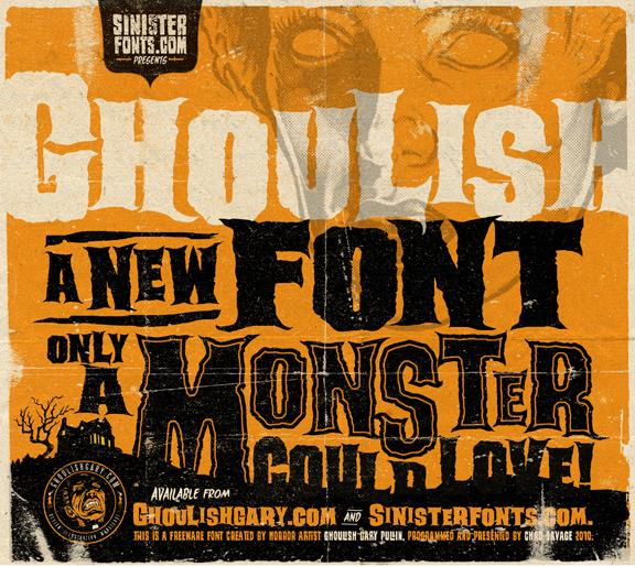 Ghoulish font by Sinister Fonts