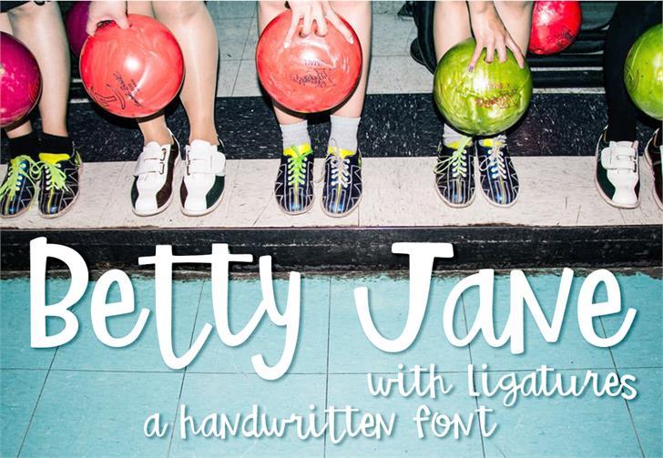 Betty Jane Light font by GroovyJournal