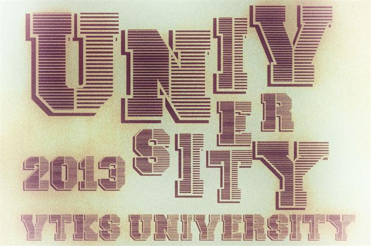 vtks university font by VTKS DESIGN