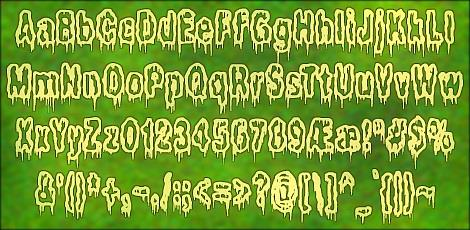It Lives In The Swamp BRK font by Ænigma Fonts