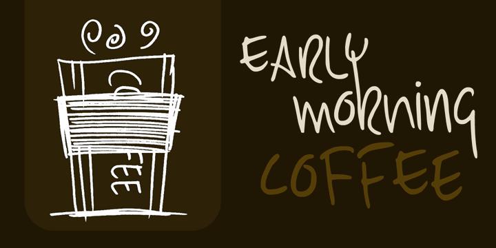 DK Early Morning Coffee font by David Kerkhoff