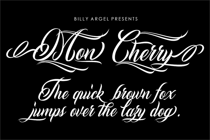 Mon Cherry Personal Use font by Billy Argel