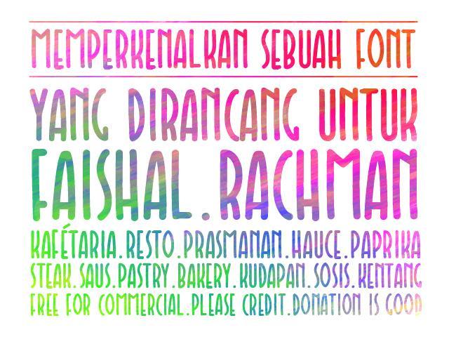 Faishal font by Gunarta