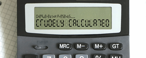 Crudely Calculated font by Chequered Ink