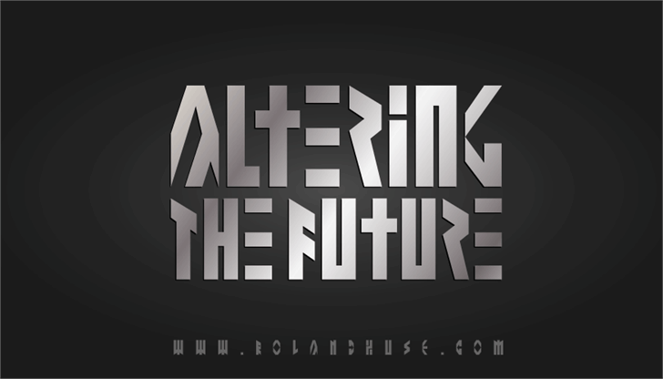 Altering The Future font by Roland Huse Design