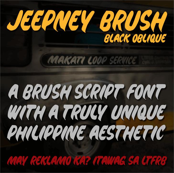 Jeepney Brush font by seantrowbridge