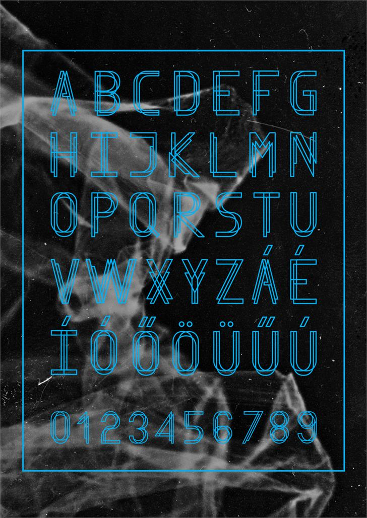 Finity font by Agnes Bertothy