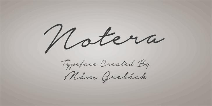 Notera Personal Use Only font by Måns Grebäck
