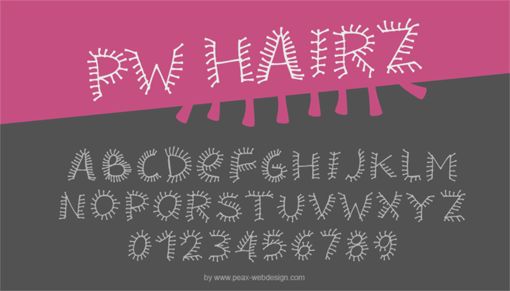 PWHairz font by Peax Webdesign